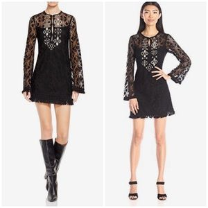 Nanette Lepore Beaded Lace Black Tunic/Dress
